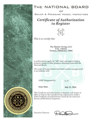 Certificate Of Authorization - NB Mark